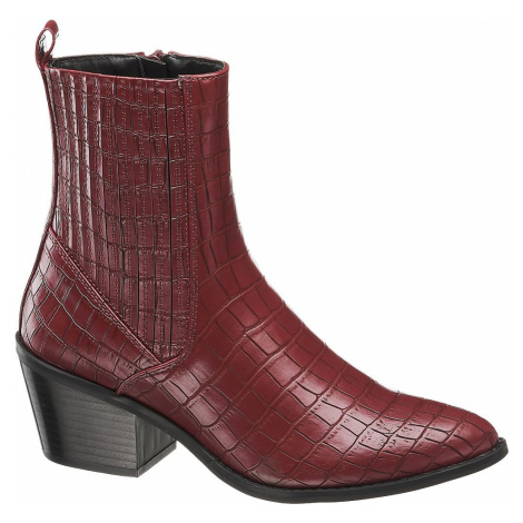 Vero Moda - Bordová Chelsea obuv so zvieracím vzorom Vero Moda