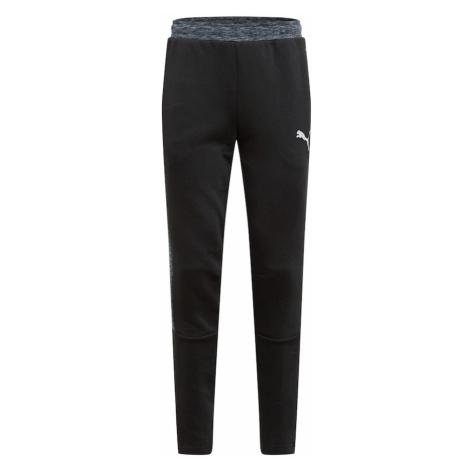 PUMA Športové nohavice  čierna / kamenná / biela