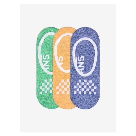 Ponožky Vans Wm 6.5-10 3 Pack Cmarlc Primary Multi Farebná