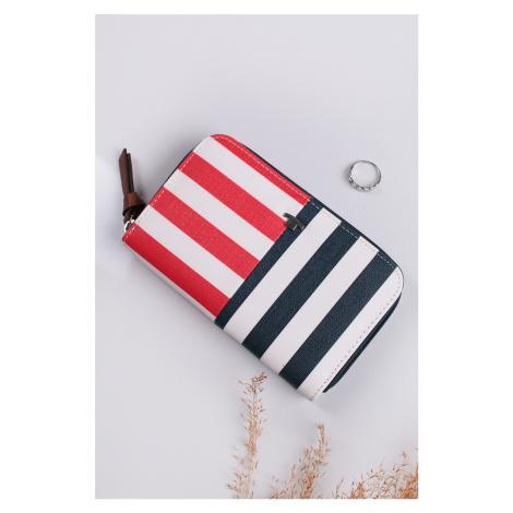 Červeno-modrá pásikavá peňaženka Miri Nautic Tom Tailor