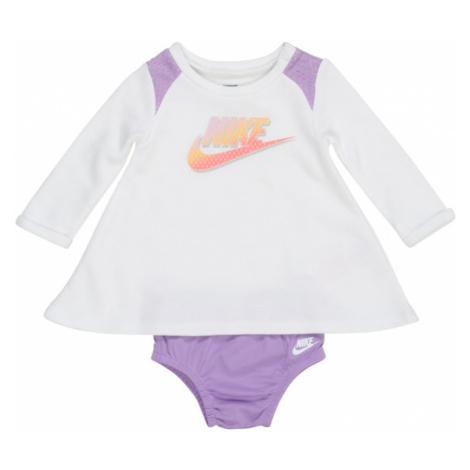 Nike Sportswear Šaty  biela / fialová