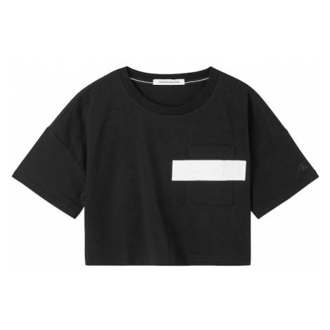 Calvin Klein Jeans Tričko  čierna / biela