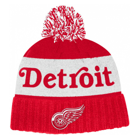 Zimná čiapka adidas Culture Cuffed Knit Pom NHL Detroit Red Wings