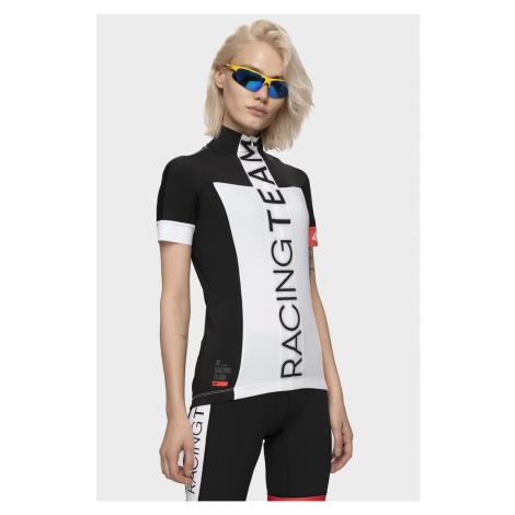 Dámske cyklistické tričko RKD150 - biela 4F