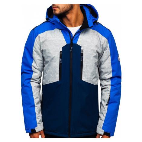 Modrá pánska lyžiarská bunda Bolf 1340 JUSTPLAY