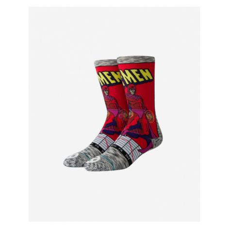 Stance Magneto Comic Ponožky Červená Šedá