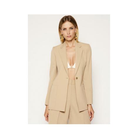 Victoria Victoria Beckham Blejzer Blend Tailoring 2220WJK000951A Béžová Slim Fit