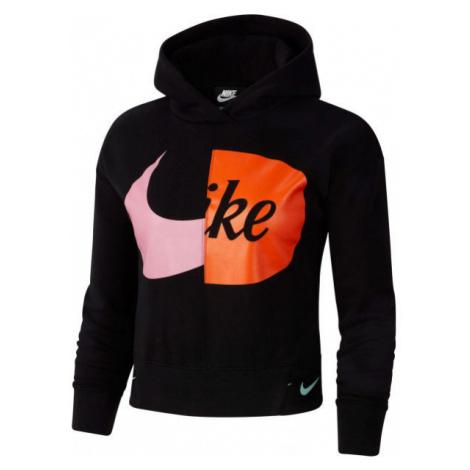 Nike NSW HOODIE FLC JDIY G čierna - Dievčenská mikina