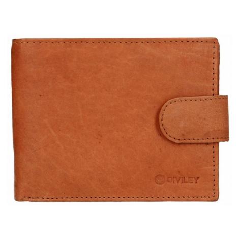 Pánska kožená peňaženka Diviley Marek - svetlo hnedá