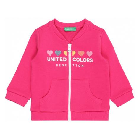 UNITED COLORS OF BENETTON Tepláková bunda  biela / námornícka modrá / žltá / ružová / ružová
