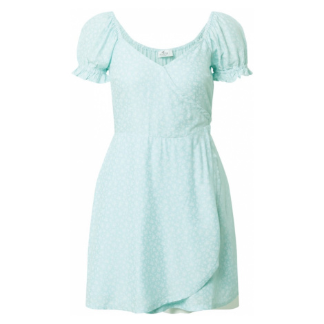 HOLLISTER Letné šaty 'Spring Floater'  tyrkysová / biela