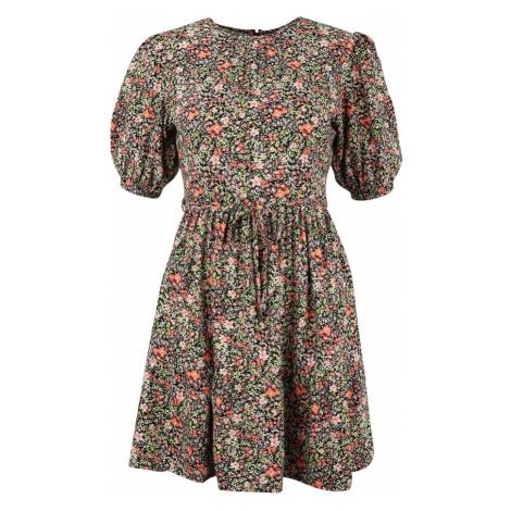 Miss Selfridge Šaty  svetlozelená / oranžová / ružová / čierna