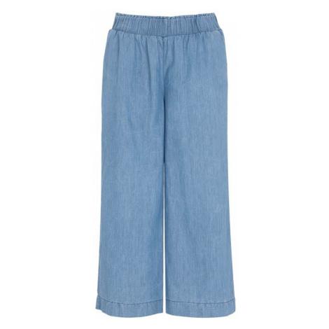 Denimová nohavicová sukňa