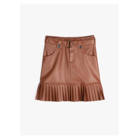 GATE Mini sukňa z imitácie kože