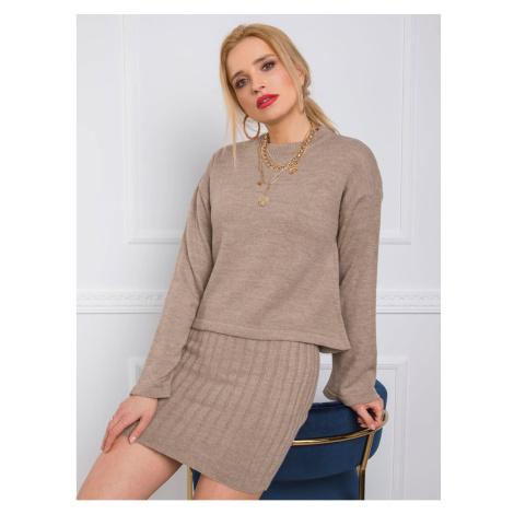 Beige knitted set