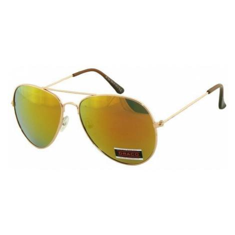 Slnečné okuliare AVIATOR - pilotky zlatý kovový rám zlatohne