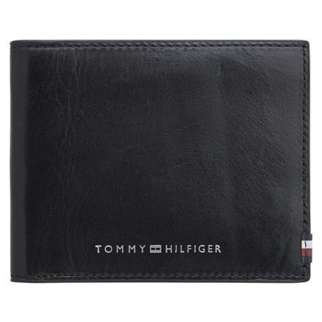 Tommy Hilfiger Pánska kožená peňaženka Polished Leather Mini Wall et AM0AM06304 BDS