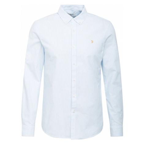 FARAH Košeľa  nebesky modrá / biela