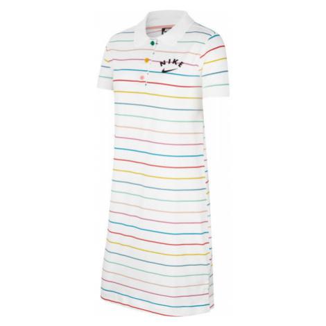 Nike NSW DRESS POLO FB G biela - Dievčenské šaty