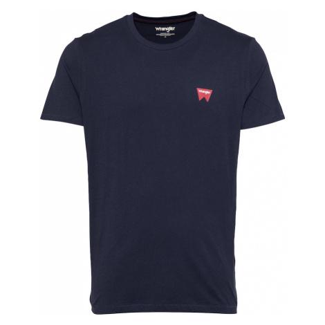 WRANGLER Tričko  námornícka modrá / hrdzavo červená / biela