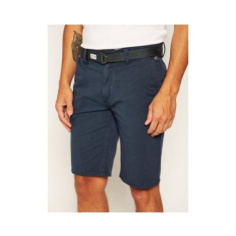 Tommy Jeans Bavlnené šortky Tjm Vintage Wash DM0DM07932 Tmavomodrá Regular Fit Tommy Hilfiger