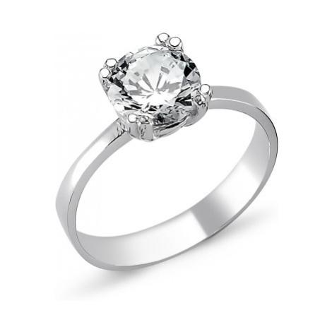 OLIVIE Strieborný solitérny prsteň so zirkónom 1263