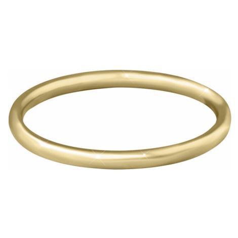 Troli Pozlátený minimalistický prsteň z ocele Gold mm