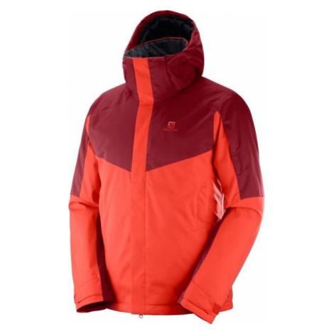 Salomon STORMSEEKER JKT M červená - Pánska lyžiarska bunda