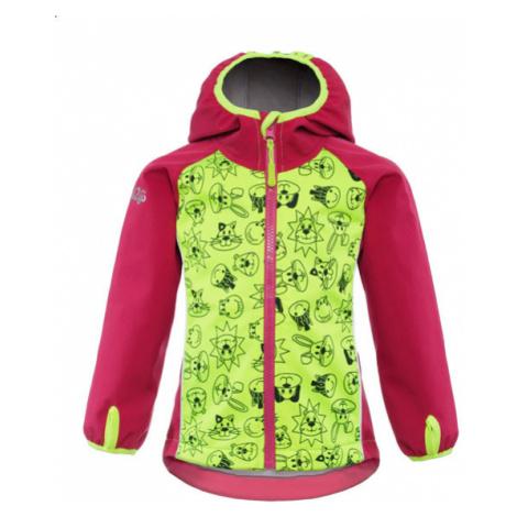GOOD2GO Softshellová bunda ružová / žltá - veľ. 98