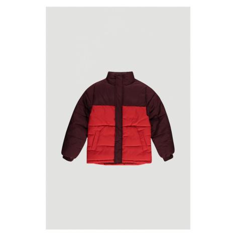 O'NEILL Zimná bunda 'Puffer'  ohnivo červená / vínovo červená