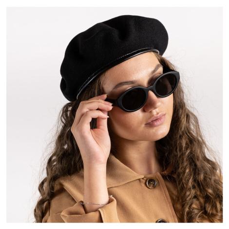 Čierna vlnená baretka Monty Wool Beret Kangol