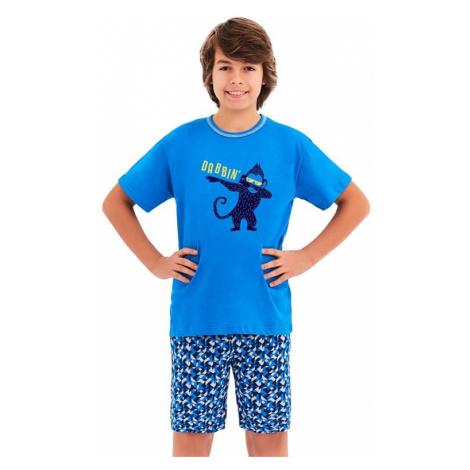Chlapčenské pyžamo Damián modré opice Taro