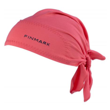 Finmark FS-018 ružová - Funkčná trojcípa šatka