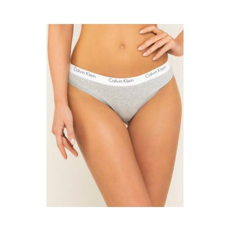 Calvin Klein Underwear Stringové nohavičky 000QF1368E Sivá