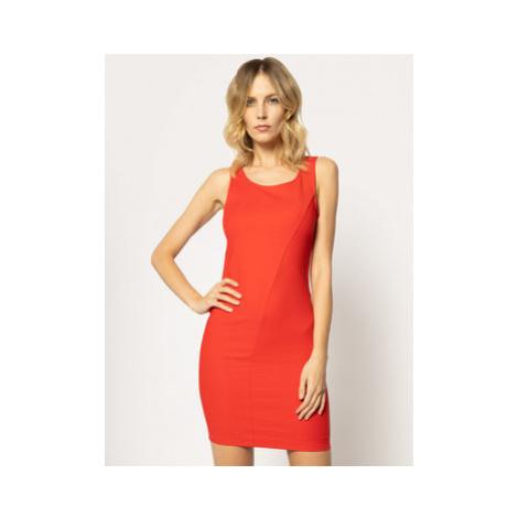 Patrizia Pepe Koktejlové šaty CA0609/AQ39-R670 Červená Slim Fit