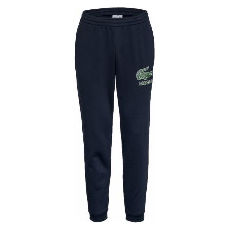 LACOSTE Nohavice  námornícka modrá / zelená / biela