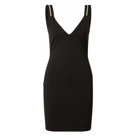 Just Cavalli Kokteilové šaty  čierna / strieborná