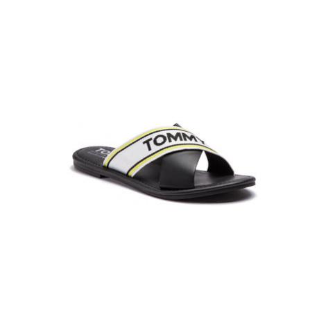 Tommy Jeans Šľapky Pop Webbing Flat Mule Sandal EN0EN00423 Čierna Tommy Hilfiger