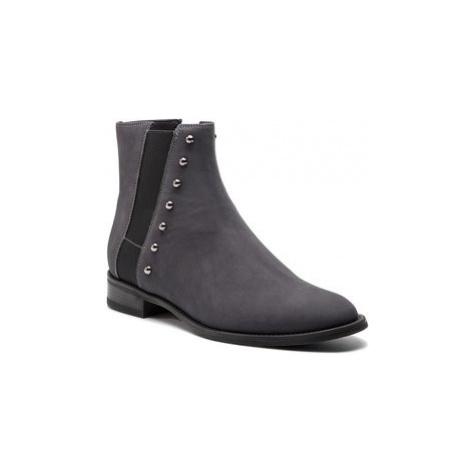 Gino Rossi Členková obuv s elastickým prvkom Nevia DSH956-G12-0445-0094-0 Sivá