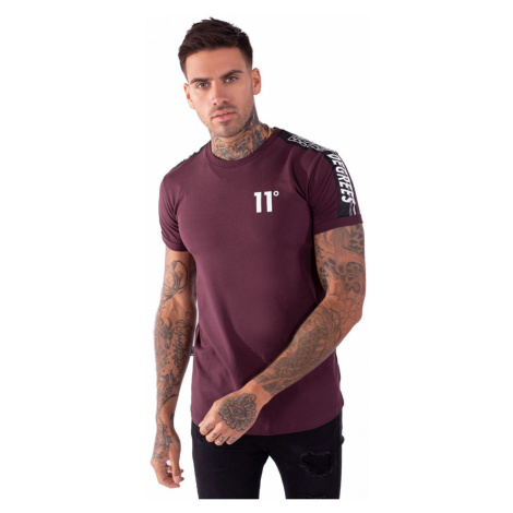 11 Degrees Taped Muscle T Shirt Mulled Red