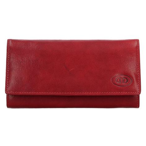 Dámska kožená peňaženka DD Anekta Eliška - červená
