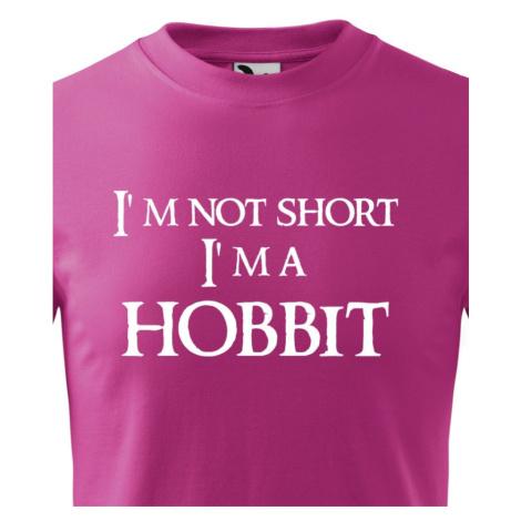 "Detské tričko ""I am not short I am Hobbit"" -  Nie som malý, som hobit"