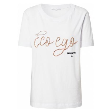 PATRIZIA PEPE Tričko  biela / bronzová / čierna