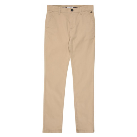 Calvin Klein Jeans Nohavice 'SKINNY CHINO PANT'  béžová