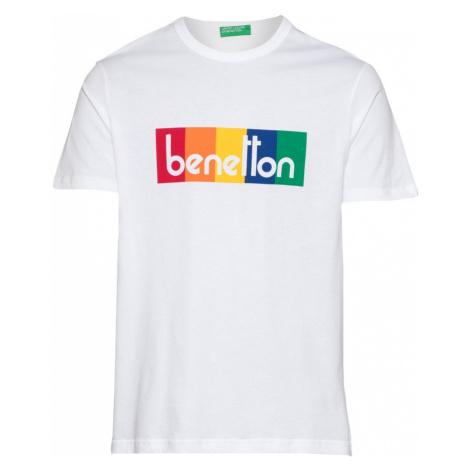 UNITED COLORS OF BENETTON Tričko  biela / zmiešané farby
