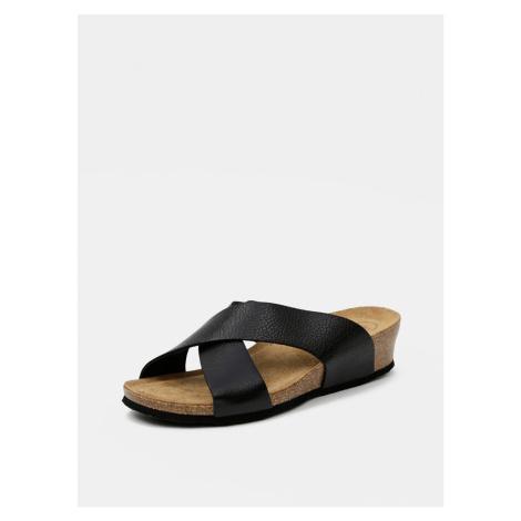 OJJU Women's Black Slippers