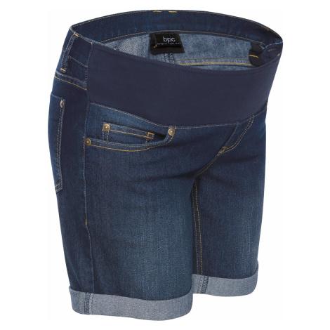 Tehotenské džínsové šortky s pásom pod bruško bonprix
