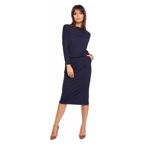 BeWear Woman's Dress B014 Navy Blue