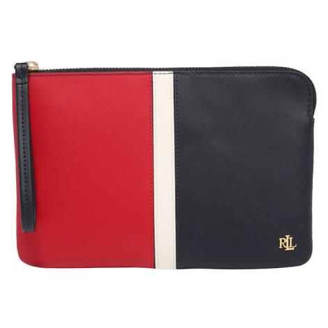 Lauren Ralph Lauren Listová kabelka  námornícka modrá / šedobiela / červená