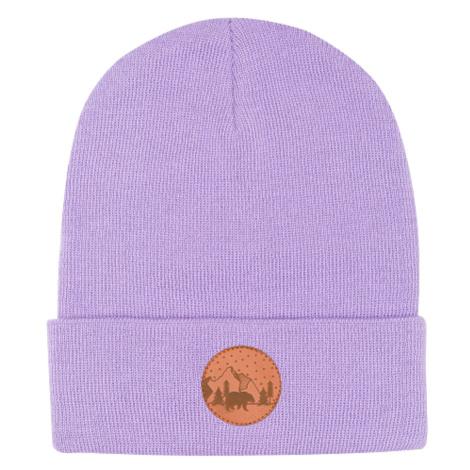Kabak Unisex's Hat Beanie Cotton Violet-4044